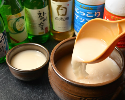 韓国のお酒と各種ドリンクが飲み放題